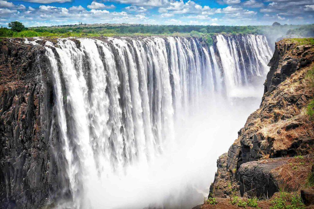 cascate vittoria fiume zambesi zambia