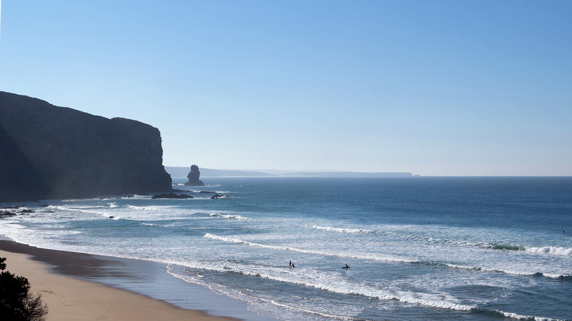 La costa oceanica in Algarve