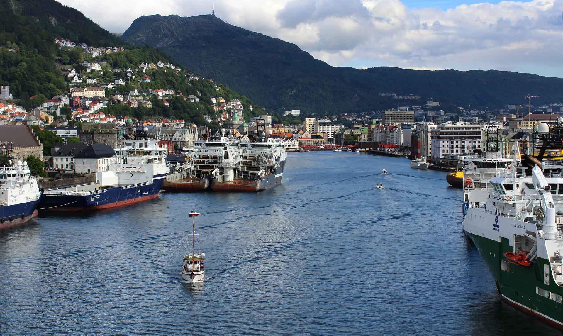 porto di Bergen in Norvegia