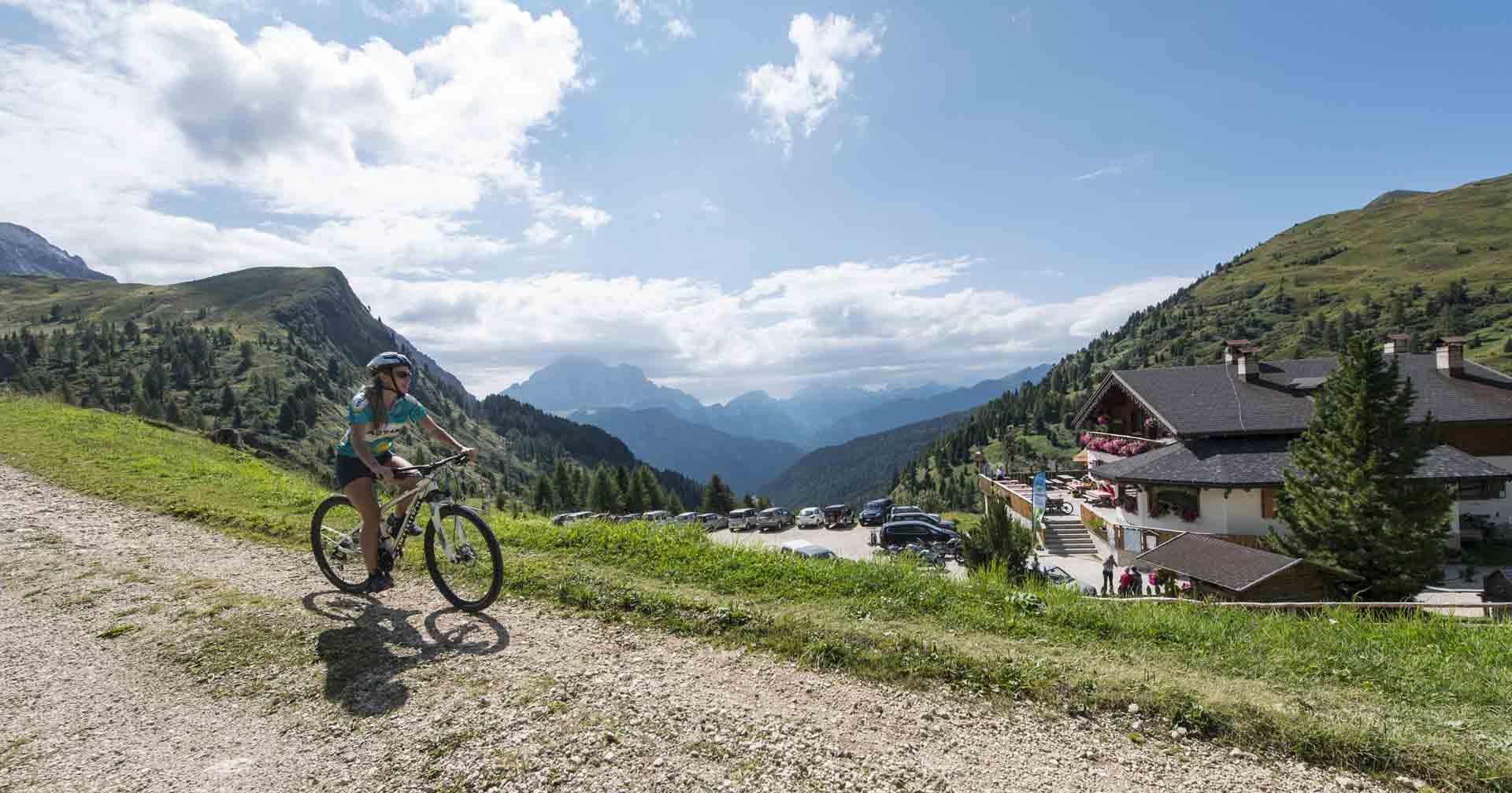 mountain bike nelle dolomiti