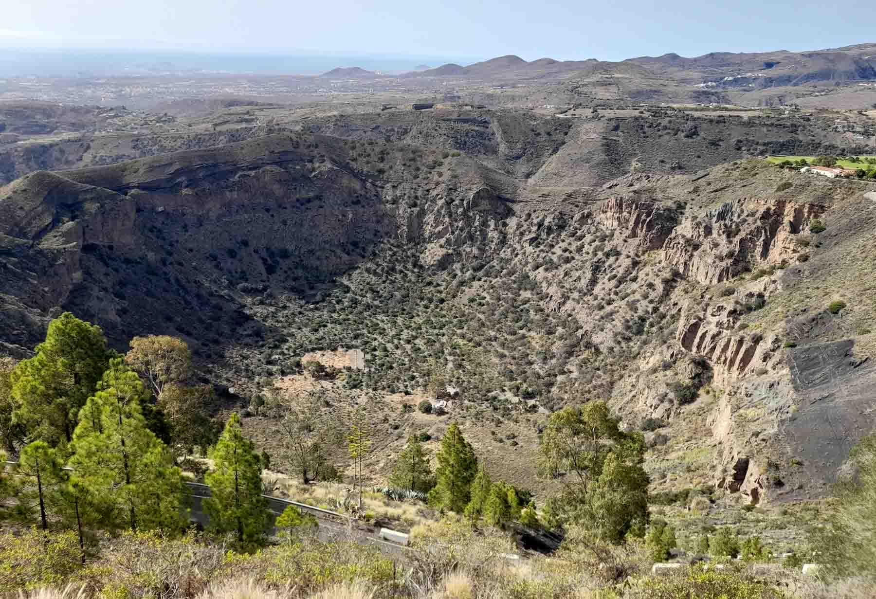 Panorama Caldera de Bandama a Gran Canaria