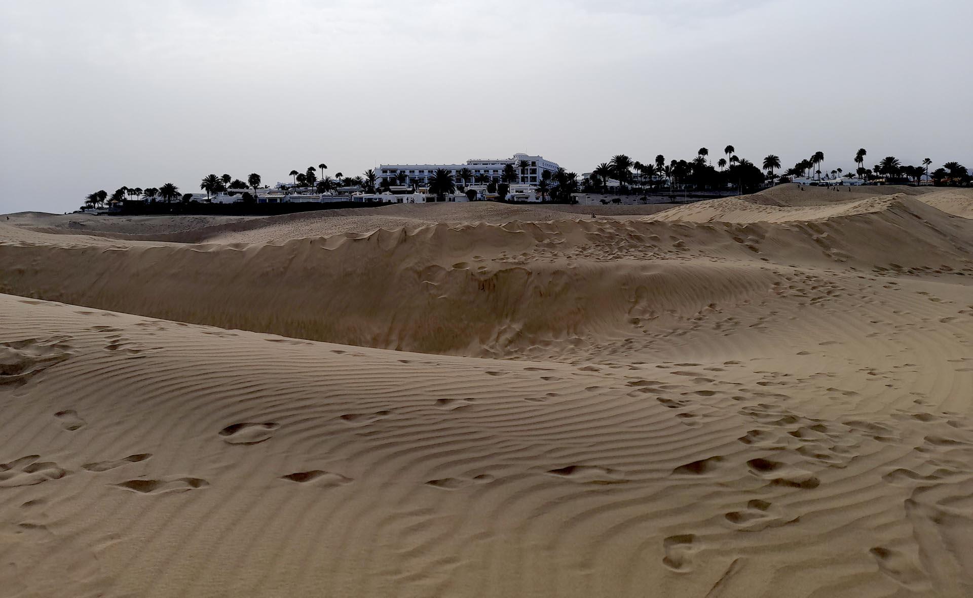 Sosta alle dune di Maspalomas