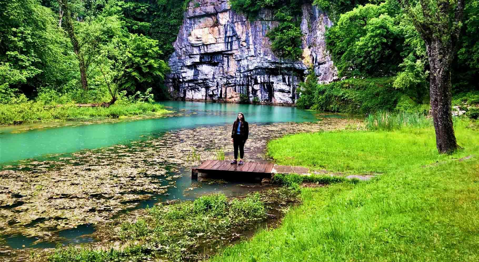 sorgenti del fiume Krupa nella regione della Bela Krajina in Slovenia