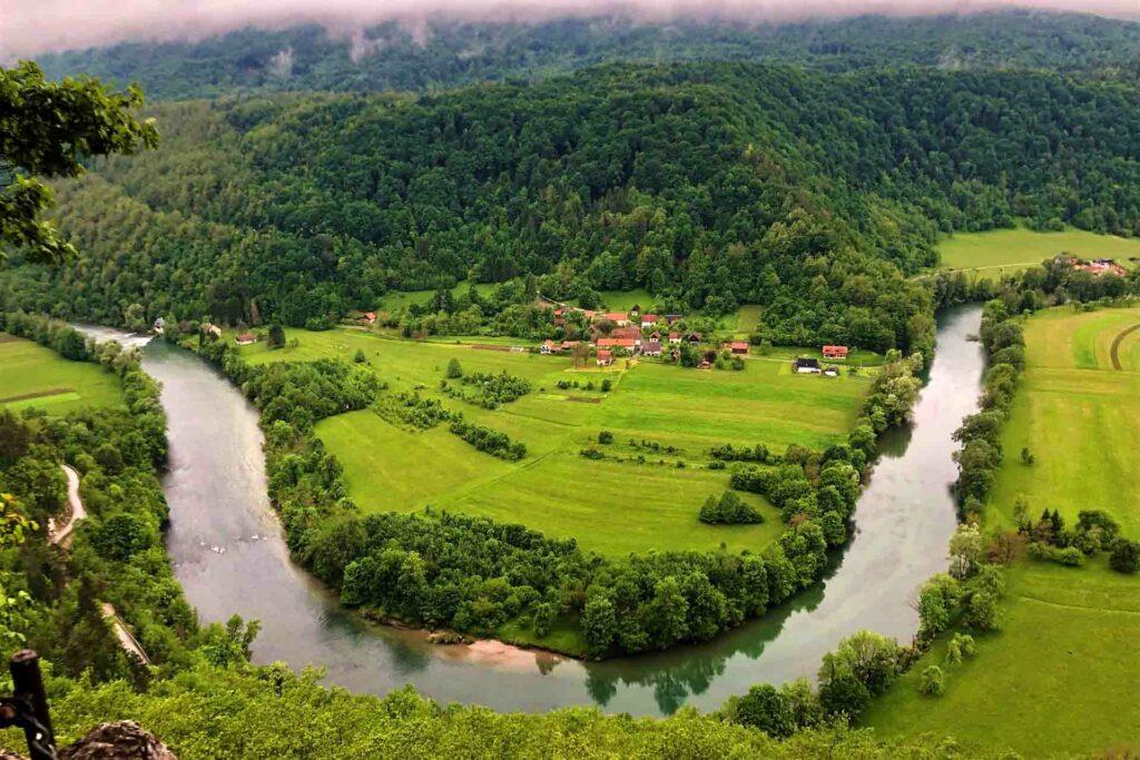 viaggio in Bela Krajina e vista panoramica a sodevska stena